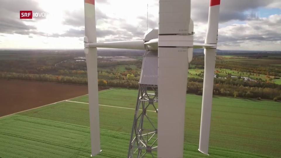 Vertikale Windräder sind leiser
