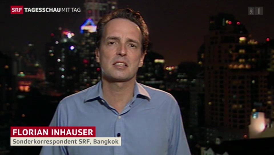 SRF-Sonderkorrespondent Florian Inhauser zur Lage in Bangkok