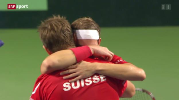 Video «Davis Cup: Schweiz-Ecuador («sportaktuell»)» abspielen