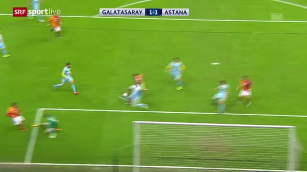 Video «Fussball: Champions League, Zusammenfassung Galatasaray-Astana» abspielen