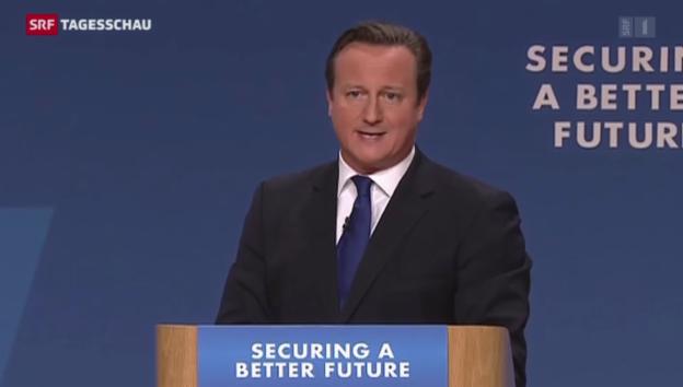 Video «Cameron erwägt Ausstieg aus EMRK» abspielen