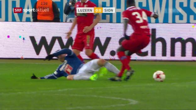 Video «Keine Tore zwischen Luzern und Sion» abspielen