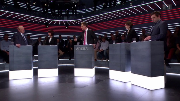 Video «Abstimmungs-«Arena»: Zweite Tunnelröhre am Gotthard» abspielen