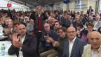 Video «FDP feiert ihren Entscheid zum Dreierticket» abspielen