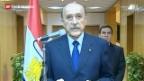 Video «Rücktrittserklärung durch Vize-Präsident Suleiman» abspielen