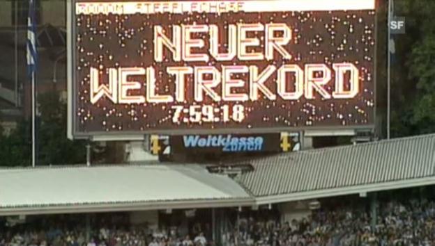 Video «Die bedeutendsten Weltrekorde bei Weltklasse Zürich» abspielen