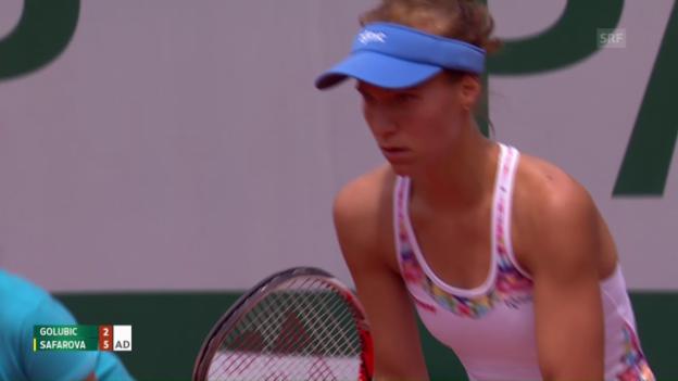Video «Golubic unterliegt Safarova» abspielen