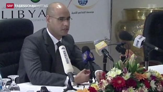 Video «Gaddafis Sohn auf der Anklagebank» abspielen