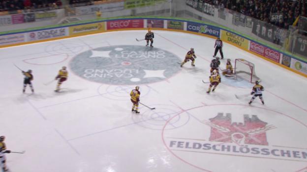 Video «Eishockey: Playoff-Viertelfinals, 3. Runde, Zusammenfassung Lugano - Genf» abspielen