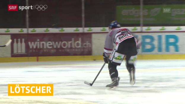 Video «Eishockey: Kevin Lötscher tritt zurück («sportaktuell», 11.02.2014)» abspielen