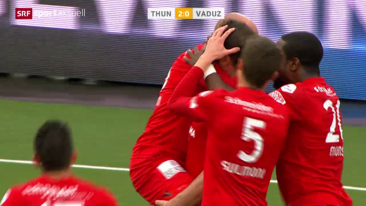Fussball: Super League, Thun - Vaduz