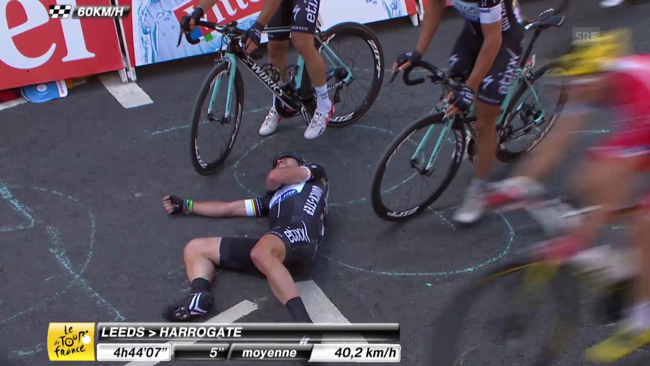 Cavendishs Sturz in der Schlussphase