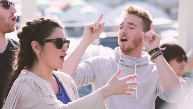 Video «Timebelle jammen mit ESC-Nachbar Ras Trent aus Österreich» abspielen