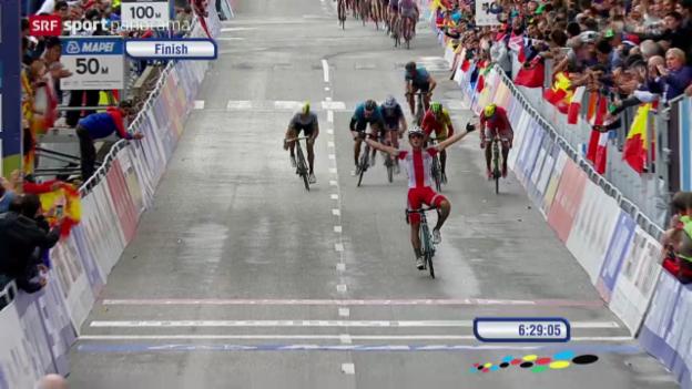 Video «Rad: WM-Strassenrennen in Ponferrada» abspielen