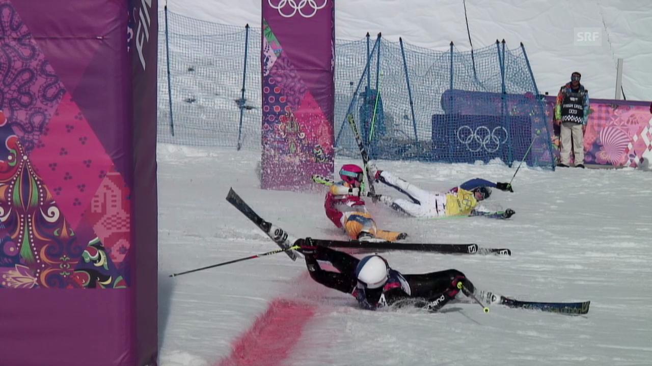 Skicross: Foto-Finish Viertelfinal (sotschi direkt, 20.02.14)