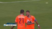 Video «GC siegt bei Lugano dank Caio-Treffer» abspielen