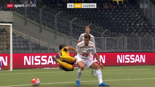 Video «Fussball: Super League, YB - Luzern» abspielen