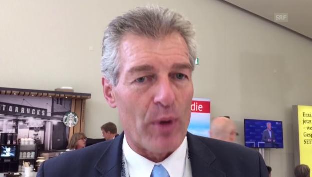 Video «Heinz Karrer und die Investition in ein Biomassekraftwerk» abspielen