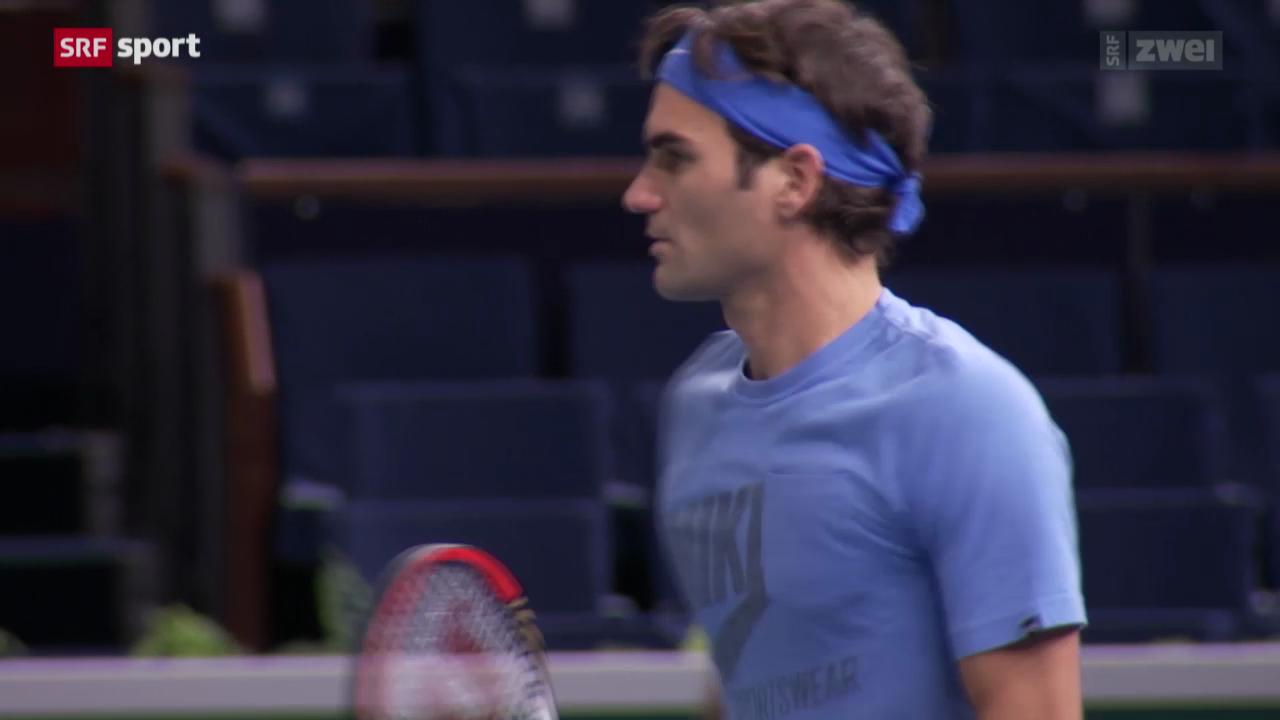 Tennis: Federer startet gegen Anderson