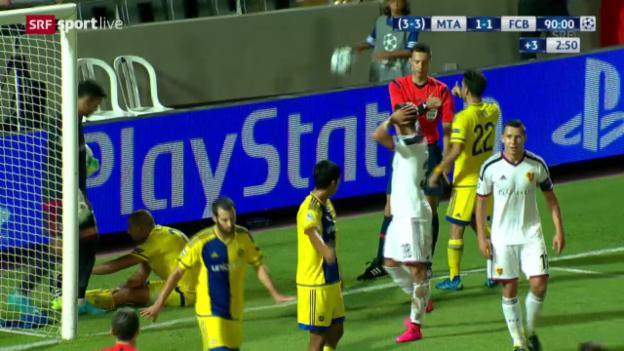 Video «Fussball: Champions League, Highlights Maccabi - Basel» abspielen