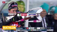Video «Biathlon: Weltcup Östersund, 15 km Frauen» abspielen