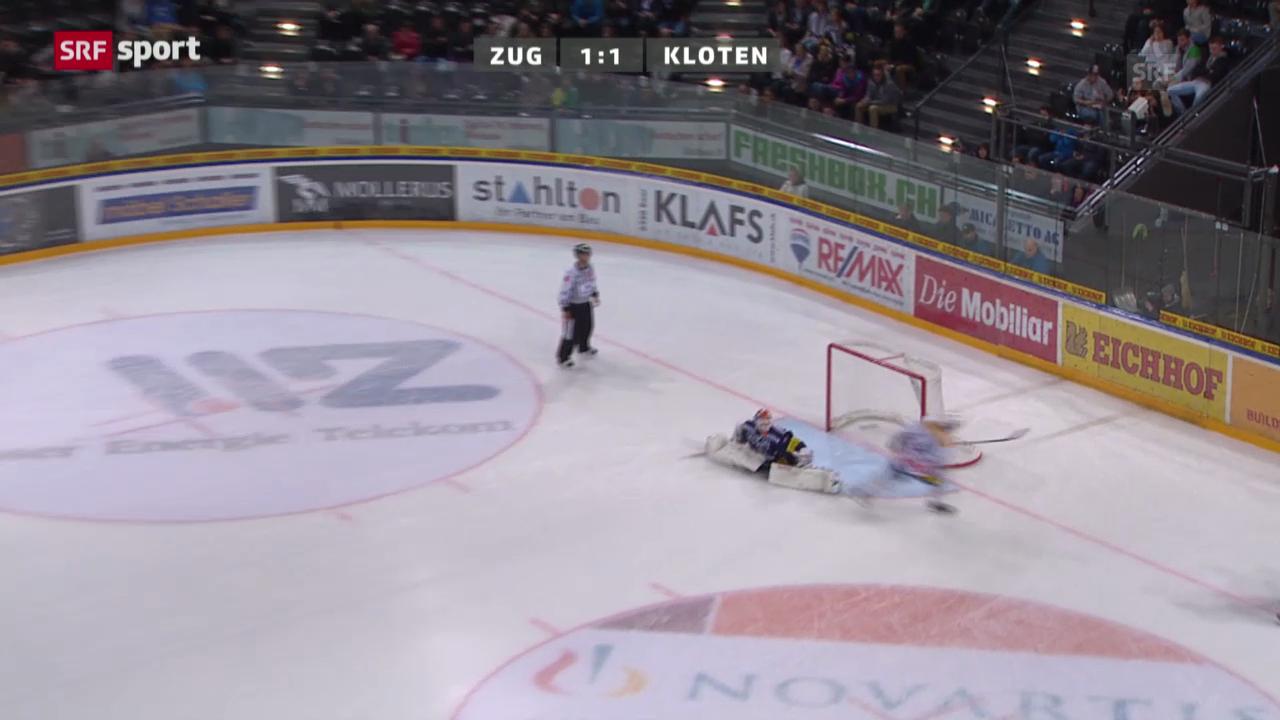 Eishockey: NLA, Zug - Kloten