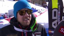 Video «Ski: WM 2015 Vail/Beaver Creek, Super-G Männer, Silbergewinner Dustin Cook im Interview (englisch)» abspielen