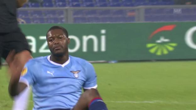 Video «2011 spielte Cissé mit Lazio gegen den FCZ» abspielen