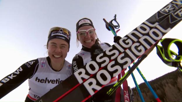 Video «2. Tour-de-Ski-Etappe: Östbergs Sieg, Fähndrichs Exploit» abspielen