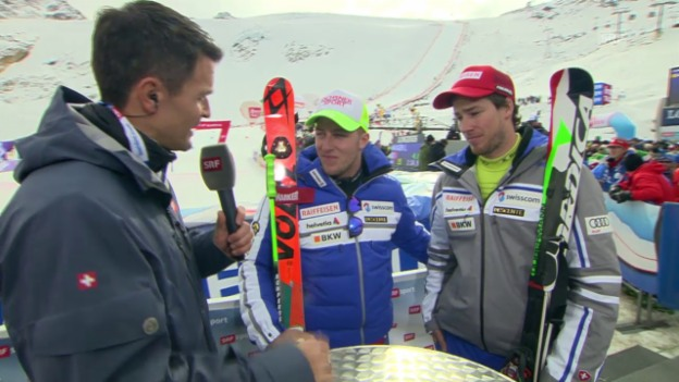 Video «Ski: RS M Sölden, Zurbriggen und Murisier im Interview mi» abspielen