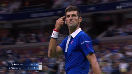Video «Tennis: US Open Final 2015, Federer-Djokovic, Highlights 3. Satz» abspielen