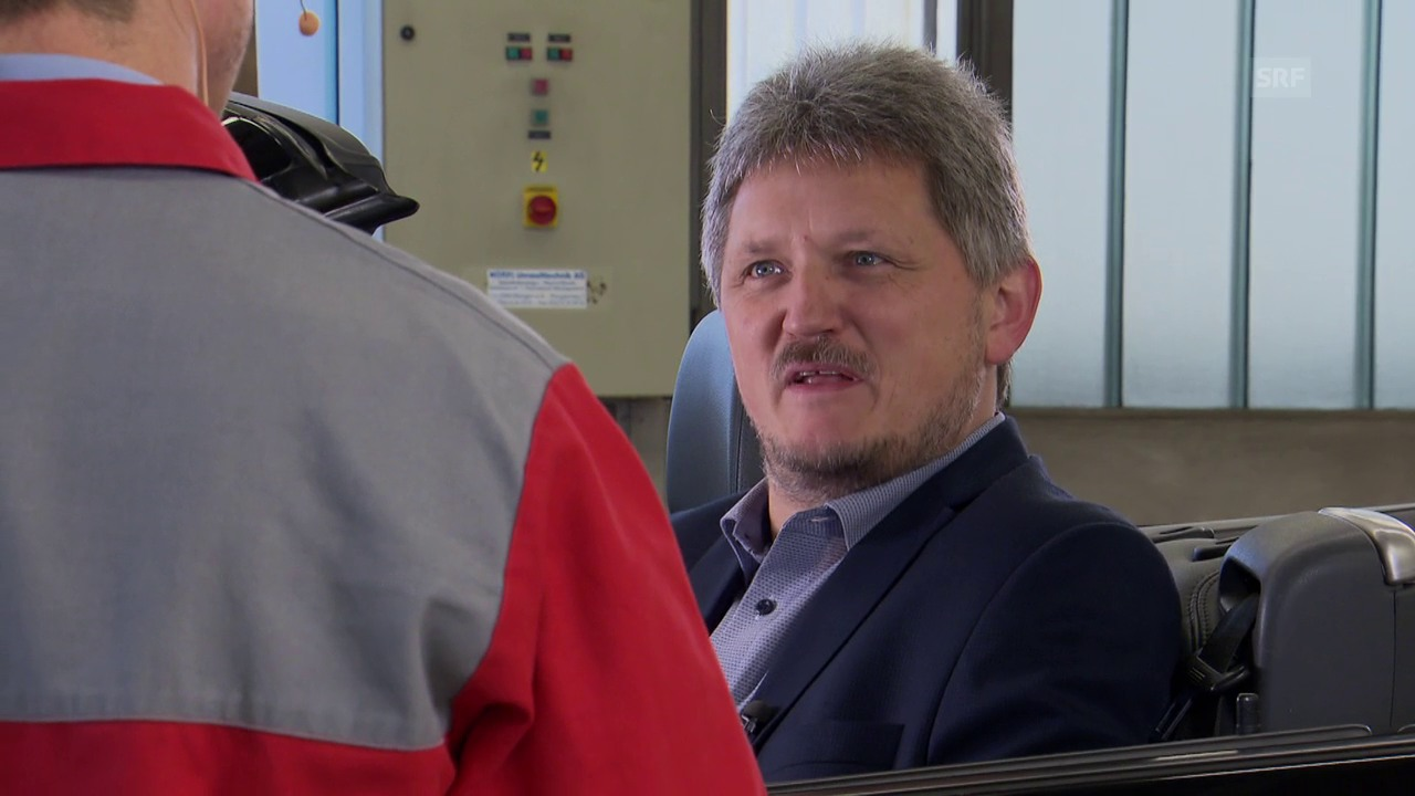 Hans Kipfer stellt sich den Fragen von SRF-Redaktor Matthias Baumer.