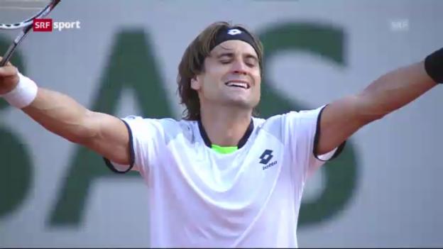 Video «Halbfinal Ferrer - Tsonga («sportaktuell»)» abspielen