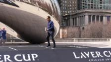 Link öffnet eine Lightbox. Video Federer bewirbt den Laver Cup in Chicago abspielen
