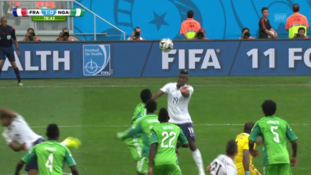 Video «FIFA WM 2014: Frankreich - Nigeria: Die Live-Highlights» abspielen