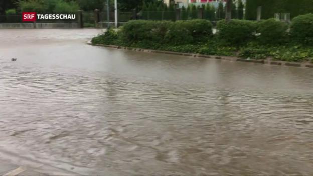Video «Überschwemmungen im Mittelland» abspielen