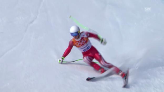 Video «Ski, Super-G, Fahrt von Carlo Janka (sotschi direkt, 16.02.14)» abspielen