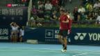 Video «Laaksonen verliert Halbfinal gegen Goffin» abspielen