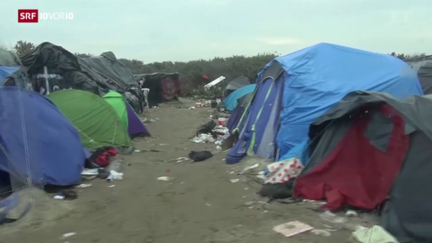 Video «FOKUS: Lage in Calais spitzt sich zu» abspielen