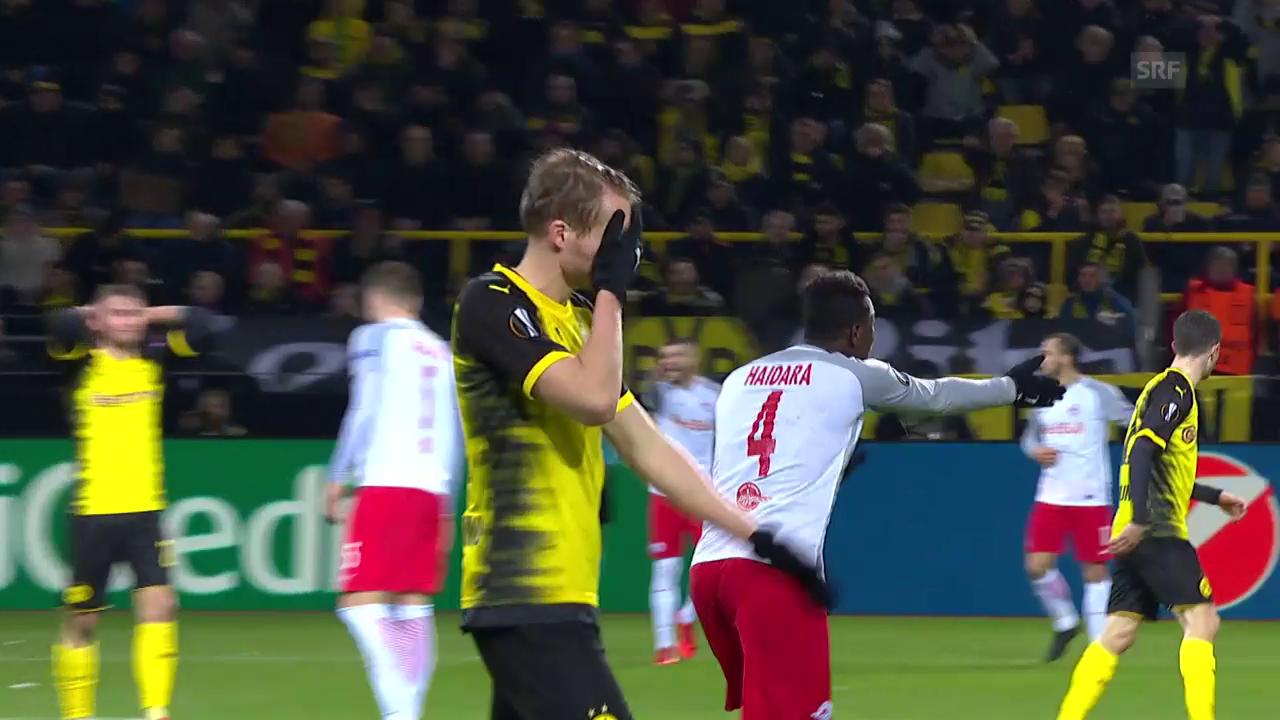 Dortmund unterliegt Salzburg zuhause