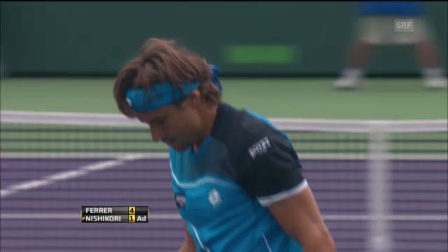 Tennis: Highlights Ferrer-Nishikori