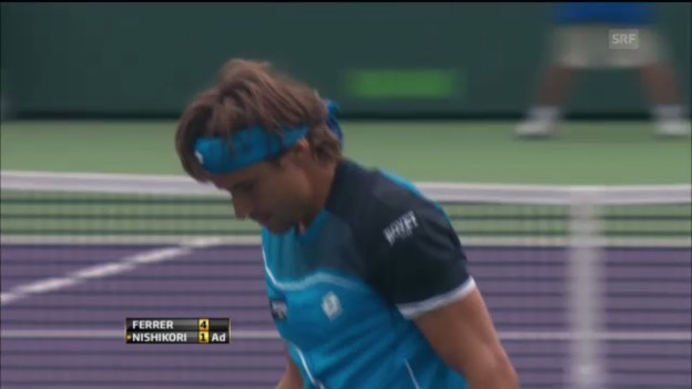Video «Tennis: Highlights Ferrer-Nishikori» abspielen