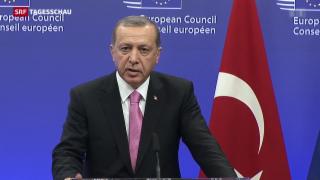 Video «Erdogan lässt sich in Brüssel hofieren» abspielen