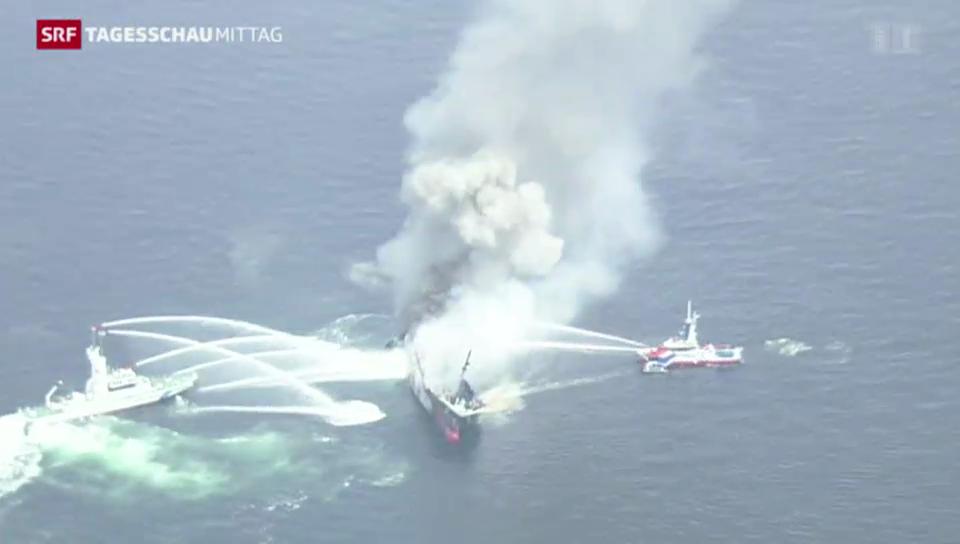 Explosion auf Riesen-Tanker