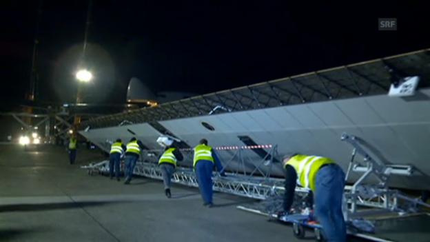 Video «Solar Impulse im Jumbo-Bauch» abspielen
