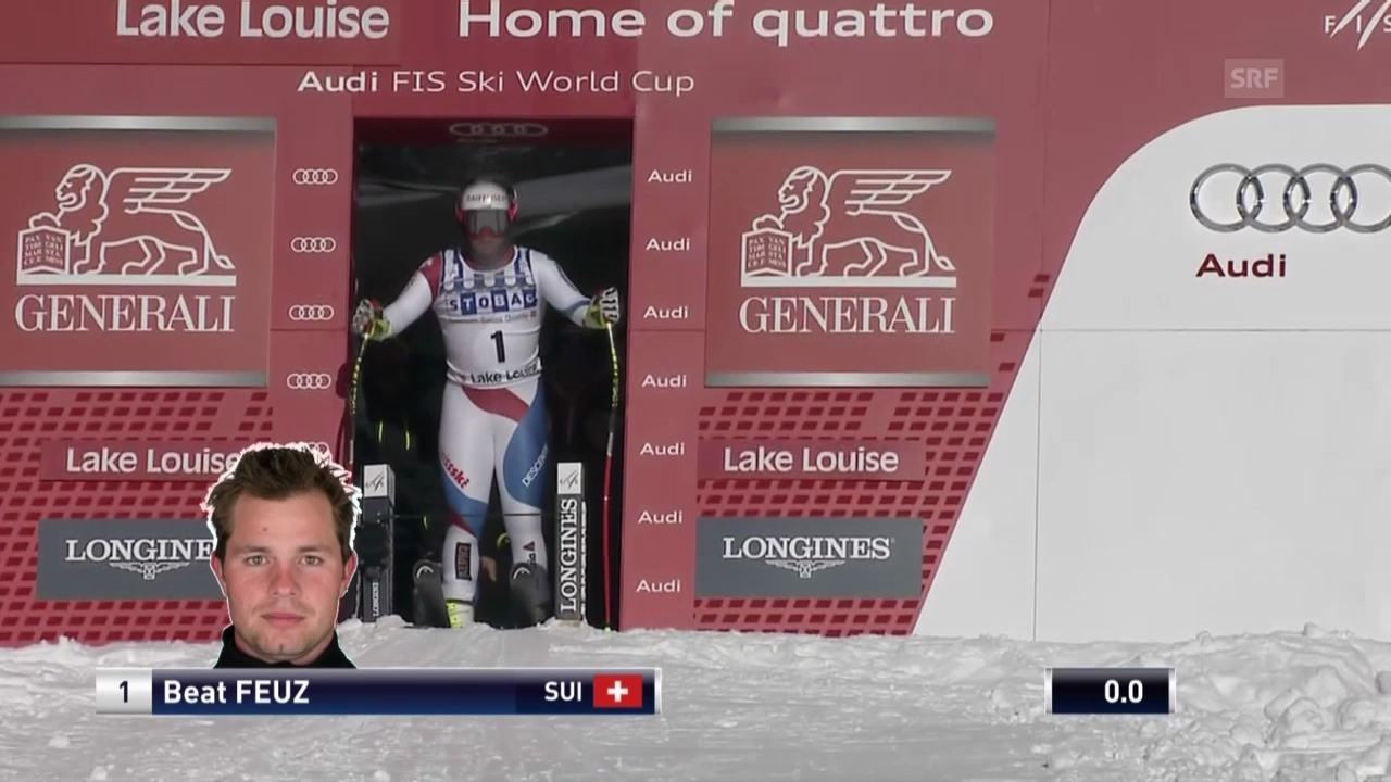 Ski Alpin: Abfahrt Lake Louise, Fahrt Beat Feuz