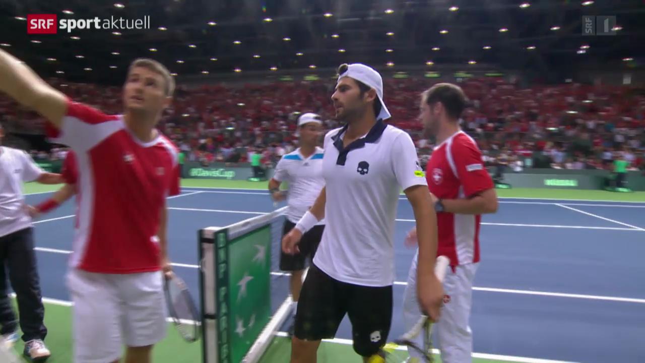 Tennis: Davis Cup, Halbfinal Schweiz - Italien
