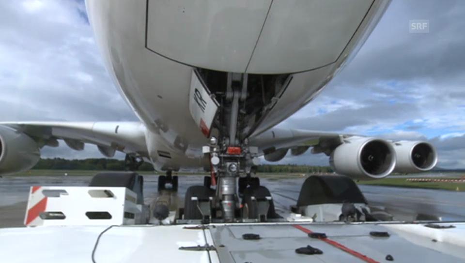 Der Pushback des A380