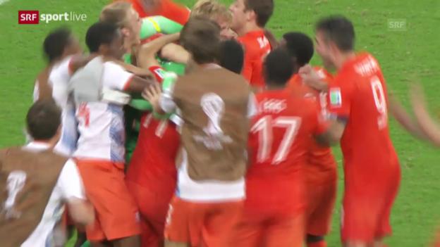 Video «FIFA WM 2014: Niederlande - Costa Rica: Die Live-Highlights» abspielen