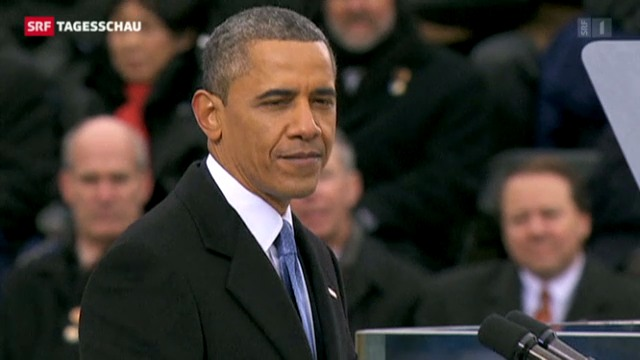 Obama legt den Amtseid ab